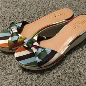 Coach Brand Rainbow Slide Wedge